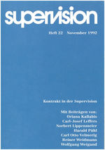 "Cover von ""supervision Nr. 22: Kontrakt in der Supervision"""