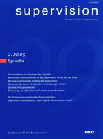 "Cover von ""supervision 2/2009: Sprache"""