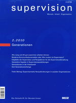 "Cover von ""supervision 2/2010: Generationen"""
